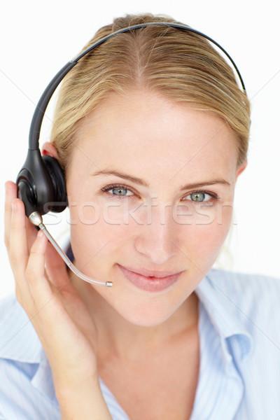 Call Center оператор бизнеса женщину рук стороны Сток-фото © monkey_business