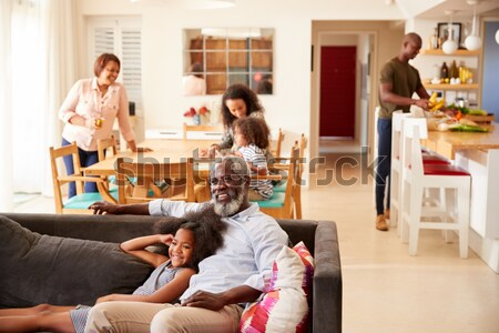 African American family exchanging Christmas gifts Stock photo © monkey_business