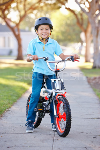 少年 着用 ライディング 自転車 子 ストックフォト © monkey_business