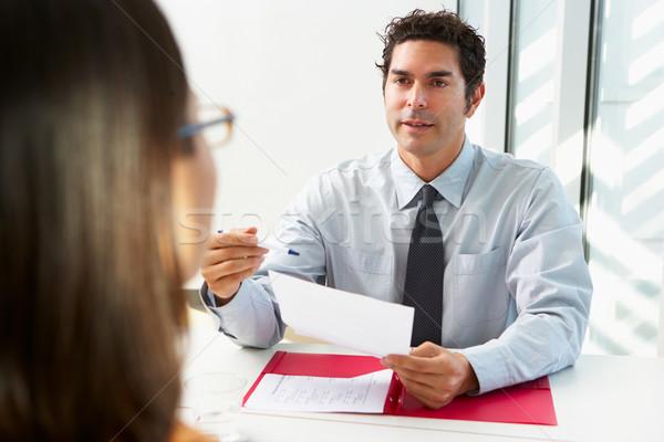 üzletember női jelölt állás üzlet nő Stock fotó © monkey_business