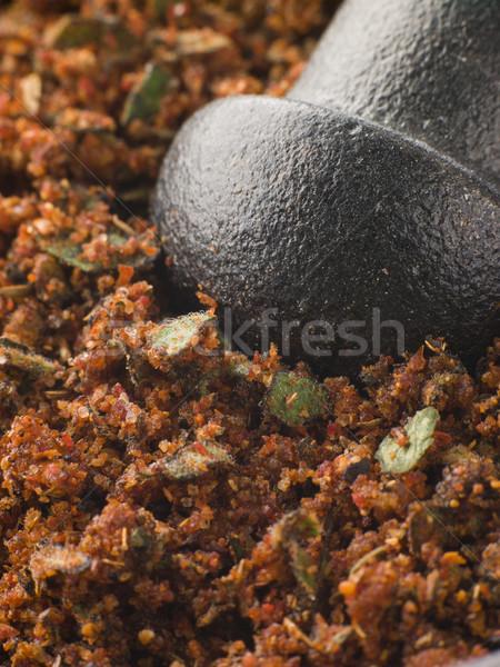 Cajun baharat gıda biber yemek sarımsak Stok fotoğraf © monkey_business