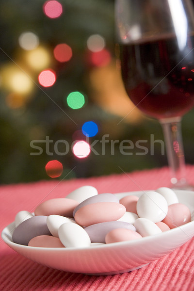 Dish of Sugared Almonds with Red Wine Stock photo © monkey_business