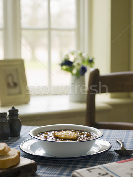 Bowl of French Onion Soup Stock photo © monkey_business