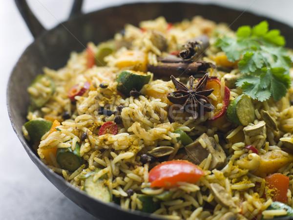 Vegetable Biryani in a Large Karahi Stock photo © monkey_business