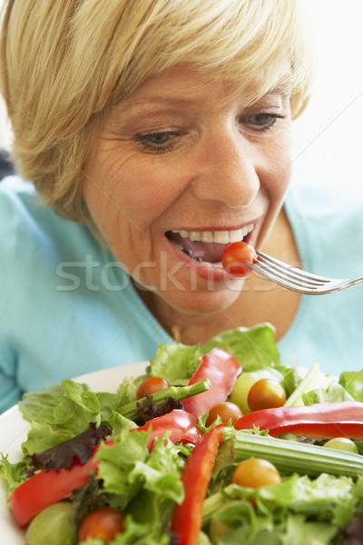 Сток-фото: здоровое · питание · Салат · портрет · вилка · еды