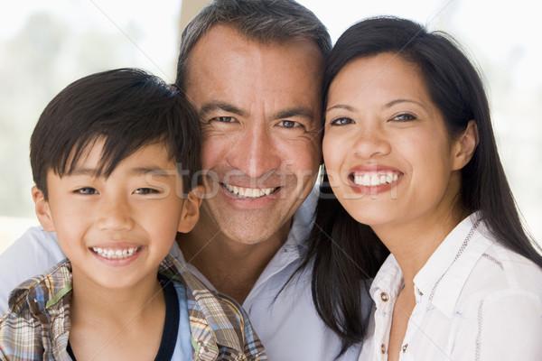 Stockfoto: Familie · samen · glimlachend · kinderen · liefde · man