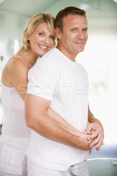Pareja bano sonriendo mujer hombre Foto stock © monkey_business