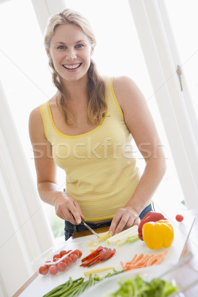 Woman Preparing meal,mealtime ,  Stock photo © monkey_business