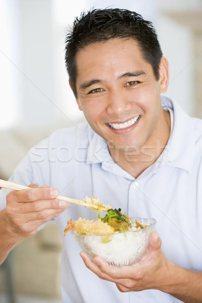 男 中国食品 箸 食品 ホーム ストックフォト © monkey_business