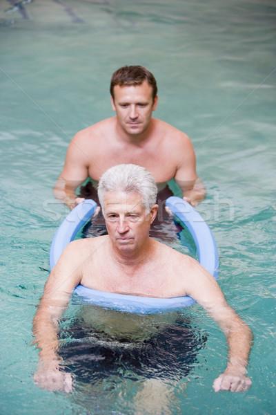 Сток-фото: инструктор · пациент · воды · терапии · здоровья · мужчин