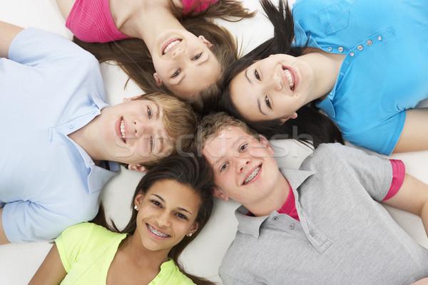 Gruppo adolescente amici studio giovani adolescente Foto d'archivio © monkey_business