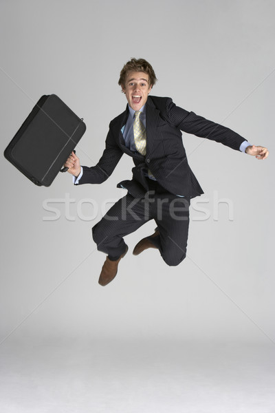 Businessman Jumping In Air Stock photo © monkey_business