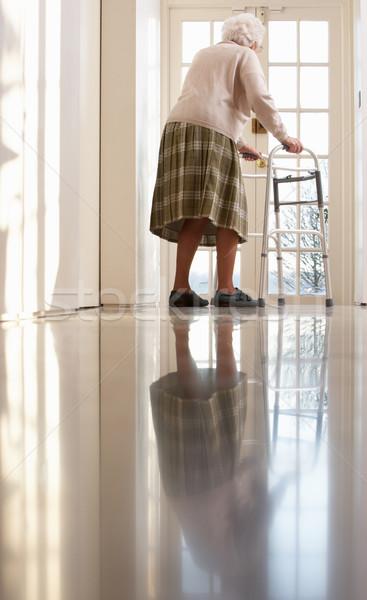 Idős idős nő sétál keret női Stock fotó © monkey_business