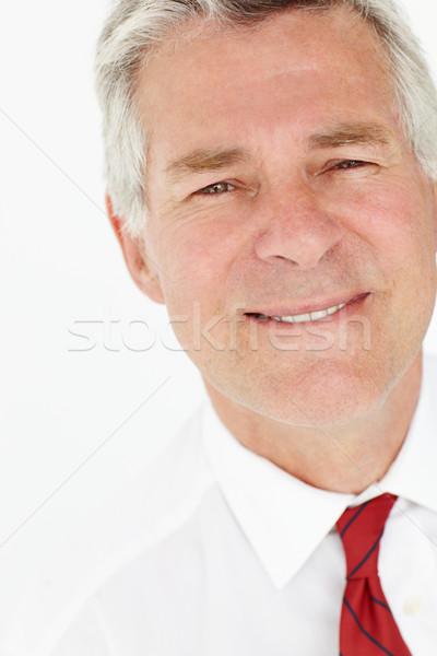 Idős üzletember fej vállak munka dolgozik Stock fotó © monkey_business