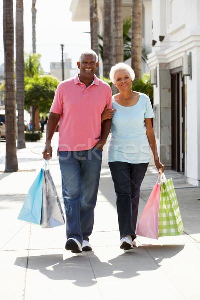 ストックフォト: ショッピングバッグ · 女性 · 女性 · 幸せ
