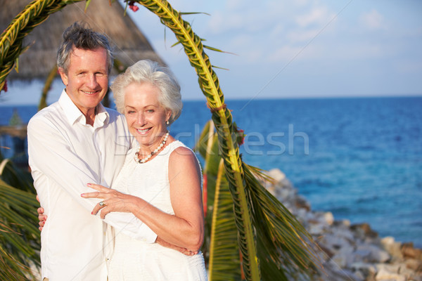Stock photo: Senior Couple Getting Married In Beach Ceremony