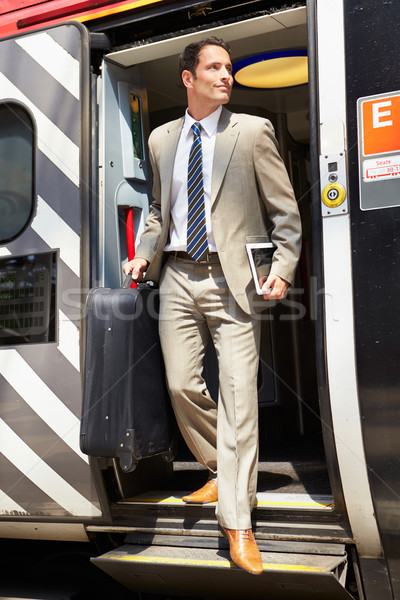 Affaires train plate-forme homme hommes Photo stock © monkey_business