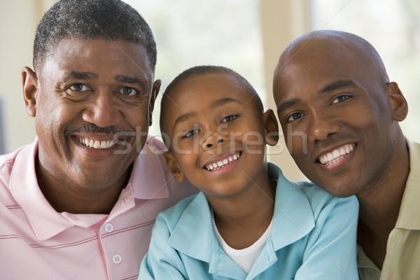 Photo stock: Grand-père · adulte · fils · petit-enfant · famille · sourire