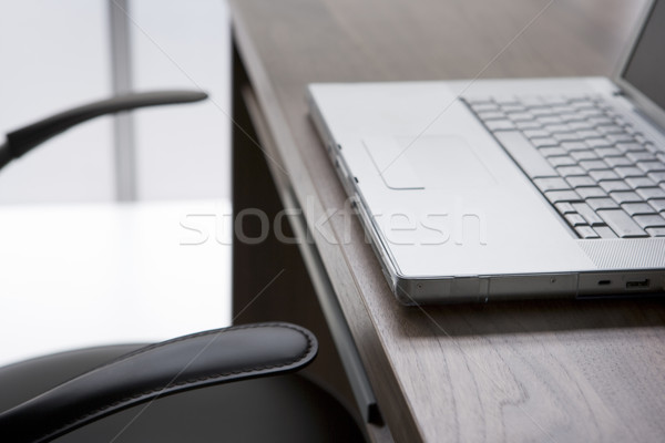 Empty Chair And Desk With Laptop Computer Stock photo © monkey_business