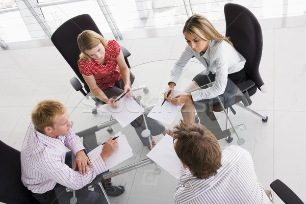 Vier boardroom papierwerk business kantoor Stockfoto © monkey_business