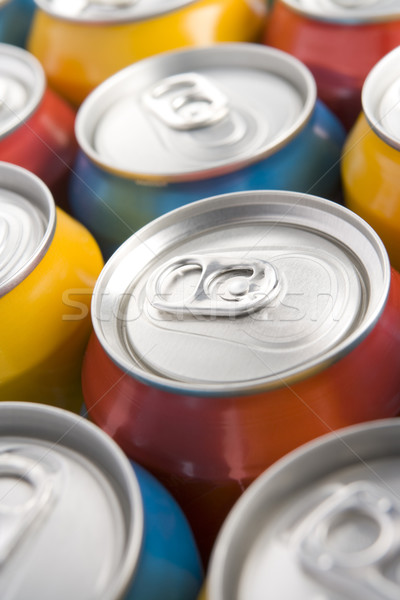 Close Up Of Multi Colored Soda Cans Stock photo © monkey_business