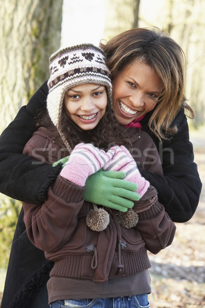 Mother And Daughter On Autumn Walk Stock photo © monkey_business