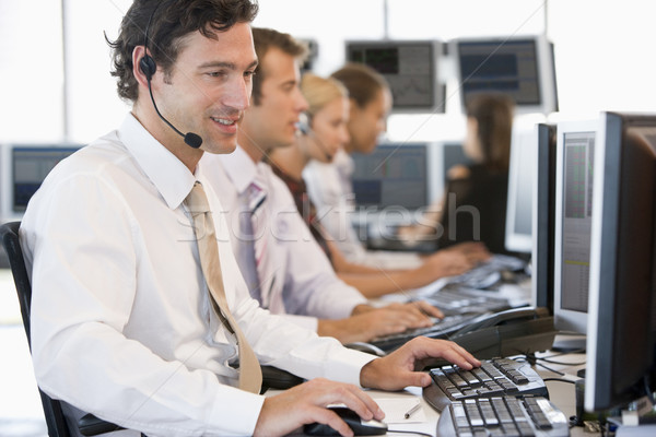 Stock Traders Working At Computers Stock photo © monkey_business