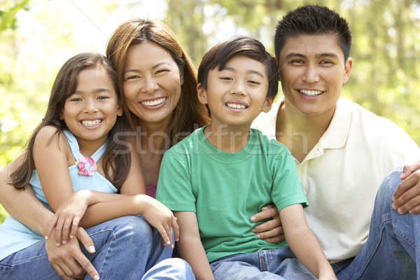 Family Enjoying Day In Park Stock photo © monkey_business