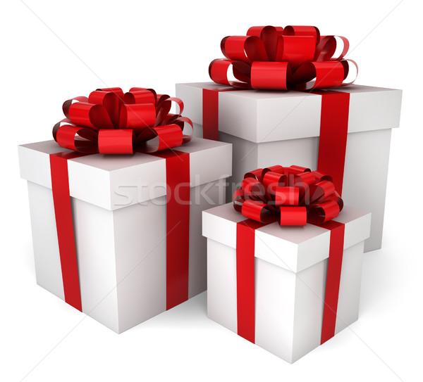 Three gift boxes Stock photo © montego