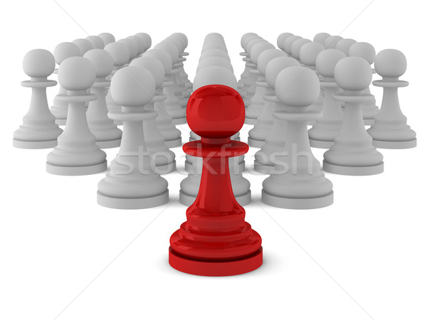 3d render of many pawns Stock photo © montego