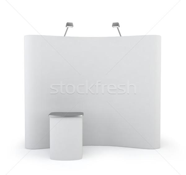 貿易 を見る ブース 3次元の図 白 ビジネス ストックフォト © montego