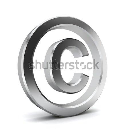 著作権 シンボル 3次元の図 白 ビジネス 背景 ストックフォト © montego