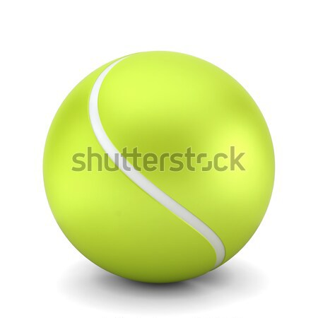 Tennisbal 3d illustration witte achtergrond oefening opleiding Stockfoto © montego