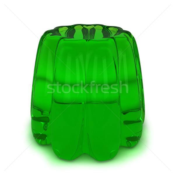 Groene gelei 3d illustration geïsoleerd witte achtergrond Stockfoto © montego