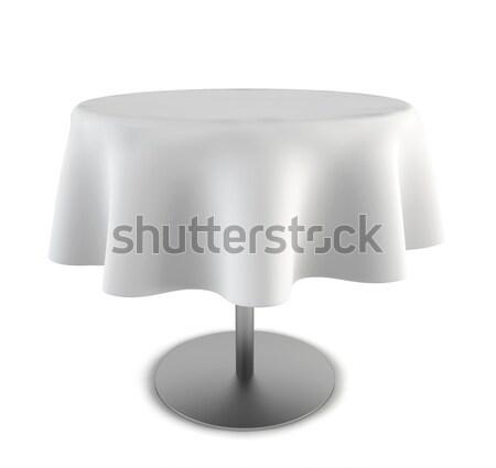Tavola illustrazione 3d bianco metal acciaio panno Foto d'archivio © montego