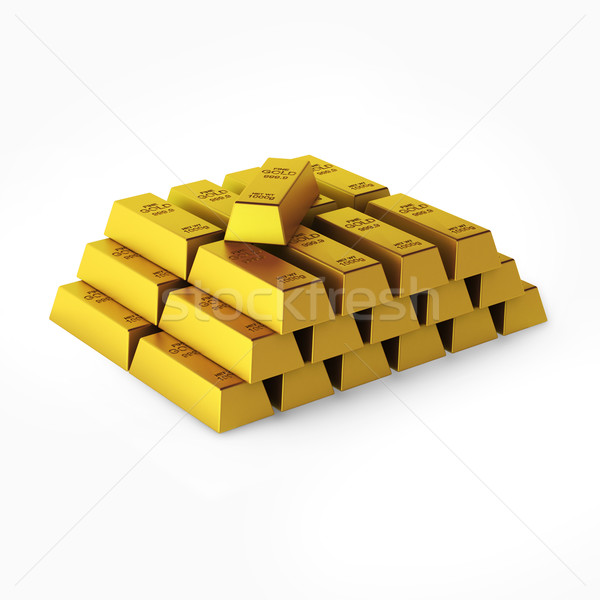 3d render of gold bars Stock photo © montego