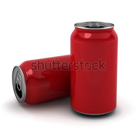 Rosso illustrazione 3d bianco birra bar industria Foto d'archivio © montego