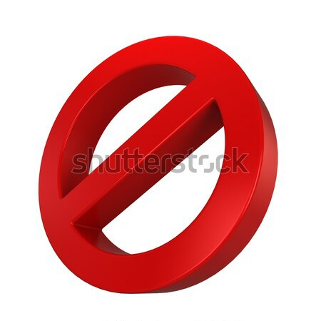 Warning sign Stock photo © montego