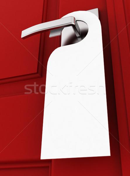Stock photo: Blank hotel hanger