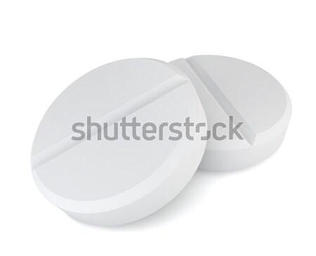 Dois pílulas ilustração 3d branco médico médico Foto stock © montego