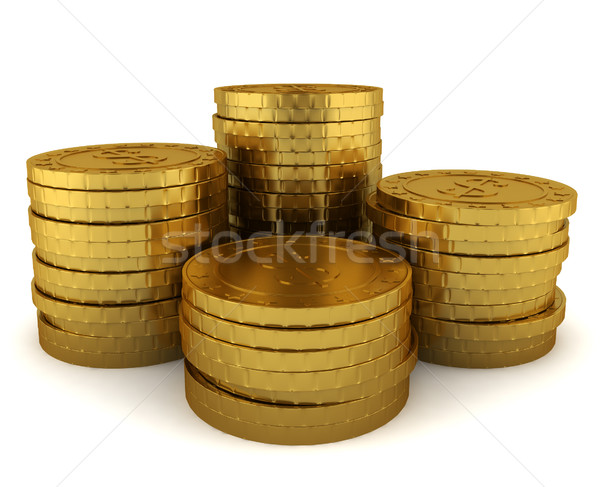 Stack of golden coins Stock photo © montego