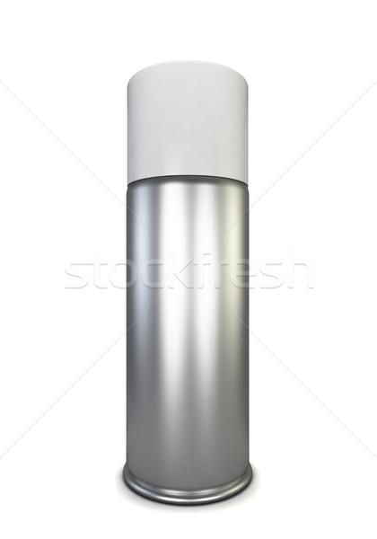 Sprey can 3d illustration yalıtılmış beyaz boya Stok fotoğraf © montego