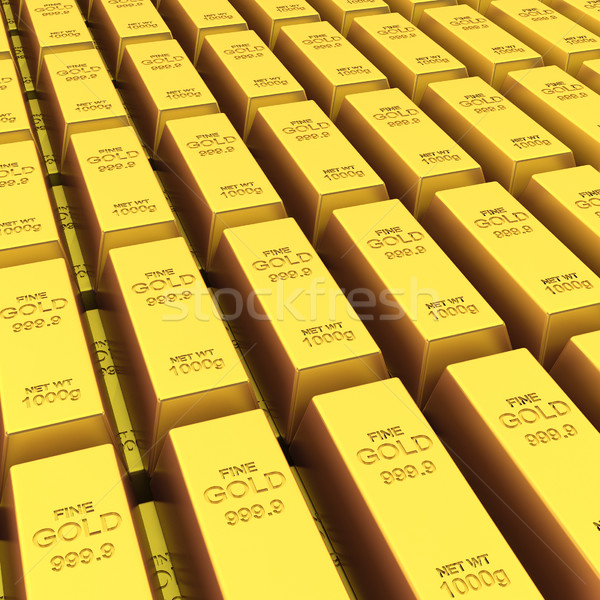 Stack of golden bars Stock photo © montego