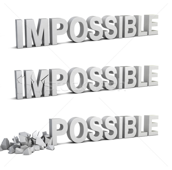 Impossible becomes possible Stock photo © montego