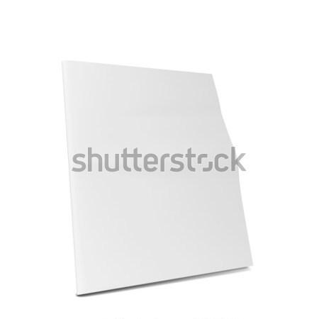 White plastic ad plate Stock photo © montego
