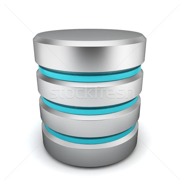 Datenbank Symbol 3D-Darstellung weiß Business Internet Stock foto © montego
