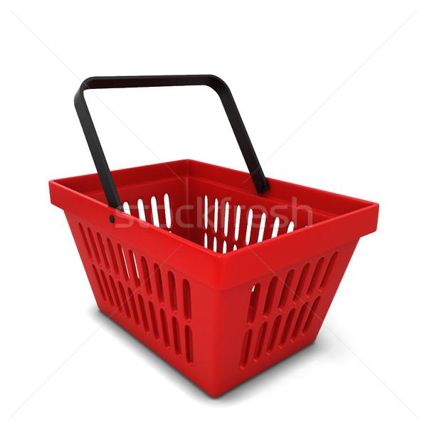Rosso basket illustrazione 3d isolato bianco alimentare Foto d'archivio © montego