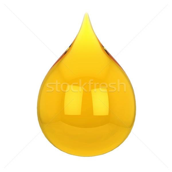 Olie drop 3d illustration geïsoleerd witte voedsel Stockfoto © montego