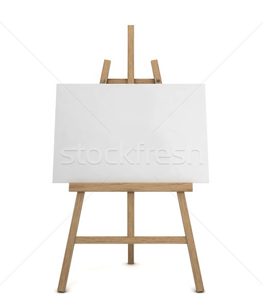 Easel with blank canvas Stock photo © montego