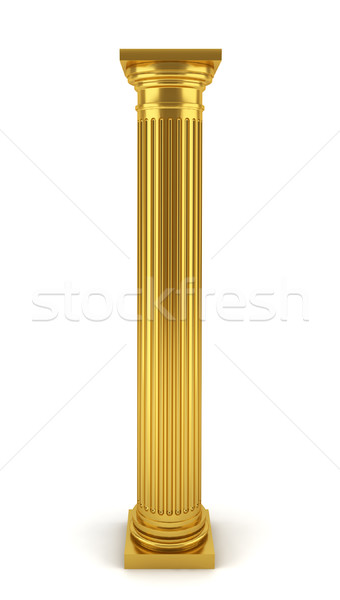 Stock photo: Golden column